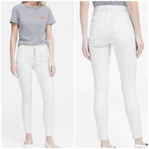 New Banana Republic High Rise Ankle Skinny Jeans